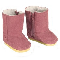 Doll Boots Pink Suede Ewe Boot by Sophia's, 18 Inch Doll Shoes Fits 18 Inch American Girl Dolls