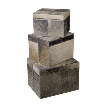 284022 Nested Faux Pony Boxes - Set of 3