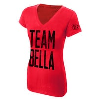"The Bella Twins ""Team Bella"" Women's V-Neck Authentic T-Shirt"