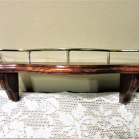 Shelf Wooden Wall Decor Hanging with Railing Home Interiors Gifts USA blm