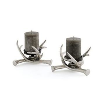 Antler Pillar Candle Holders