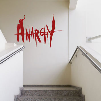 Vinyl Wall Decal Sticker Anarchy #OS_MB961