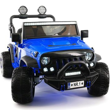 Explorer 12V Kids Ride-On Car Truck with R/C Parental Remote | Blue