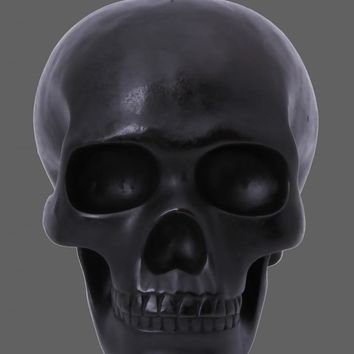 Pretty Attitude Black Lifesize 8 Inch Skull Candle Home Decor