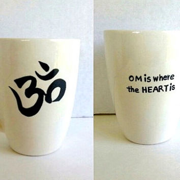 OM coffee mug, personalized coffee mug, personalized mug, custom mug, OM symbol, personalized gifts, mothers day gift, gifts for her