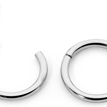 "1 Pair Stainless Steel 1/4"" (6mm) TINY 16G Hinged Segment Ring Silver Black Rose Yellow Rainbow Blue Hoop Sleeper Earrings Body Piercing"