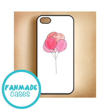 Pink Balloons 4/4s 5/5s/5c & iPod 4/5 Rubber Case