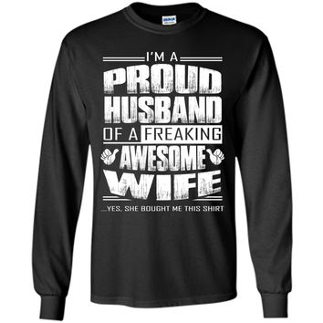 I am A Proud Husband Of A Freaking Awesome Wife cool shirt