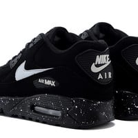 Womens Black Nike Air Max 90 Running Shoes