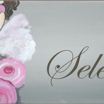 Hand Painted Tutu Canvas Wall Name Hanging / Sign for Girls Rooms, Play Rooms and Nursery Rooms