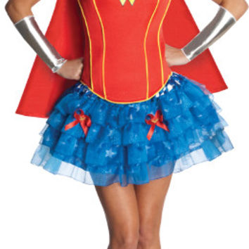 Women's Costume: Flirty Wonder Woman | Small/Medium