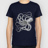 Vintage nautical steampunk octopus kraken sea monster steampunk drawing Kids T-Shirt by iGallery