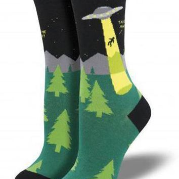 Alien Abduction Socks
