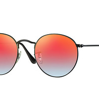 Look who's looking at this new Ray-Ban Round Flash Lenses Gradient