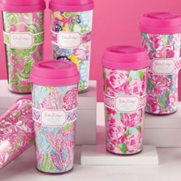 Lilly Pulitzer Thermal Mug - See Jane Work