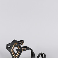 Bamboo Intertwined Straps Diamond Sandal