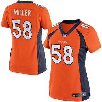 Women's Denver Broncos Von Miller Nike Orange Limited Jersey