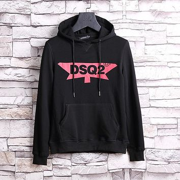 Dsquared Men Fashion Casual Hooded Top Sweater Pullover