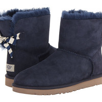 UGG Mini Bailey Bow Stripe Navy Twinface - Zappos.com Free Shipping BOTH Ways