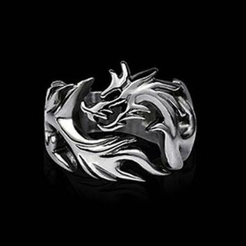 Dragon Punk Men Biker Rings