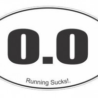 0.0 Running Sucks! funny vinyl decals bumper stickers