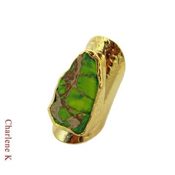 Green Turquoise Cigar Ring Charlene K Jewelry