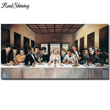 5d Diamond Painting Mosaic diy last supper  Marilyn Monroe James Dean Elvis FS948