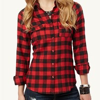 Plaid Flannel Button Up | Shirts | rue21