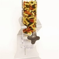 Zevro KCH-06140 Indispensable SmartSpace Dry Food Dispenser, Single Control, Stainless Steel, Silver