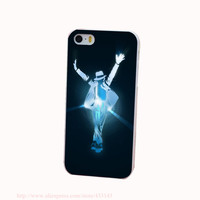 Love Michael Jackson Hard White Cover Case for iPhone 4 4s 5 5s 5c 6 6s Protect Phone Cases