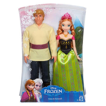 Disney Frozen Anna and Kristoff Doll Set