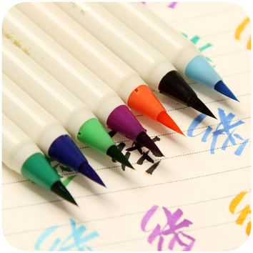 Colorful pen, color writing brush brilliant new comic soft brush calligraphy, writing brush dipped in water hook line K4815
