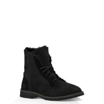 DCCKU62 Sale Ugg 1012359 Black Classic Street Quincy Boots Snow Boots