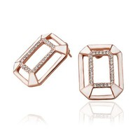 MLOVES Women's Classical Geometric Diamanted Ear Cuffs