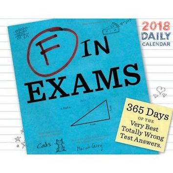 F in Exams Desk Calendar, More Humor by Chronicle Books