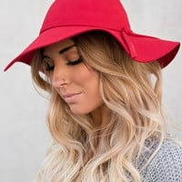 Fall Favorite Boho Hat (Red)