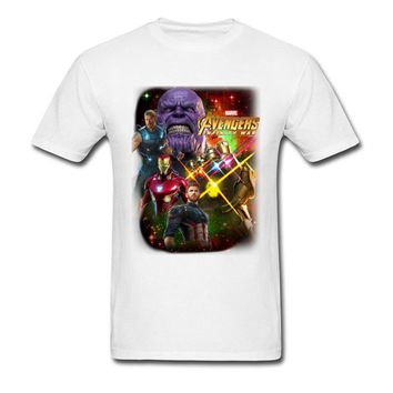 Avengers T-Shirts Deadpool Thanos T Shirt 100% Natural Cotton Brands Clothing 90's Style Movie Gamer Tshirt Infinite World