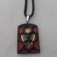 Cobra snake stainless steel pendant necklace