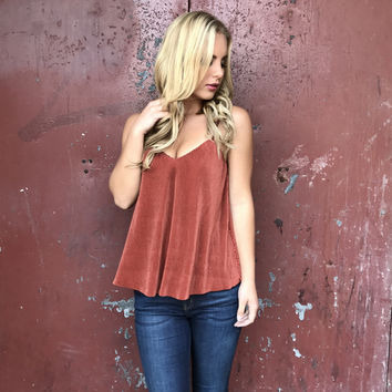 Groovy Vibes Blouse In Rust