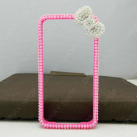 iPhone 5 case  pink bows case phone Frame  iPhone 4s case iPhone 4s case iPhone cover
