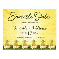 Elegant Tropical Save the Date Invitvitation Postcard