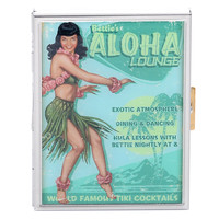 Bettie Page Aloha Lounge Cigarette Case - Unique Vintage - Prom dresses, retro dresses, retro swimsuits.