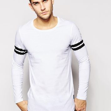 Jack & Jones Long Sleeve Top With Varsity Stripe
