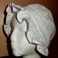 Girls Colonial Round Eared Cap