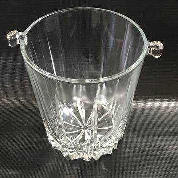 "#0019 Small ice bucket made of crystal from the 1950""s"
