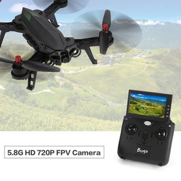 "RC Quadcopter 6 B6FD 2.4GHz 4CH 6 Axis Gyro RTF Drone Helicopter With HD 720P 5.8G FPV Camera And 4.3"" LCD RX Monitor Brushless"