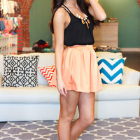Sure Thing Scuba Skirt - Light Coral