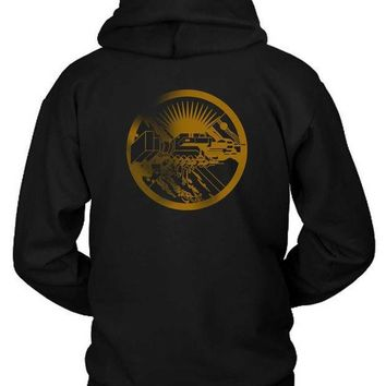Pink Floyd Hand And Hand Blur Hoodie Two Sided