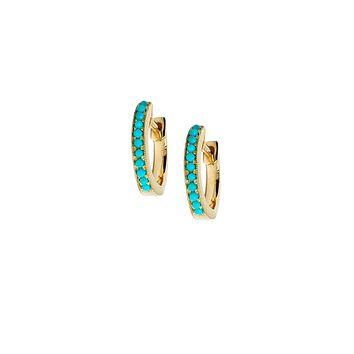 Turquoise Mini Hoop Earrings