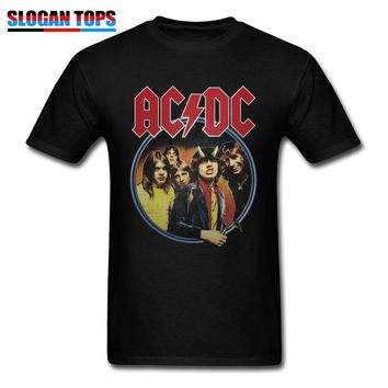 Crazy AC DC T-Shirt Men Band T Shirt Rock You Funky Clothing Youth Team Tshirt Metal Music Lover Tops Hip Hop Tees Rap Style